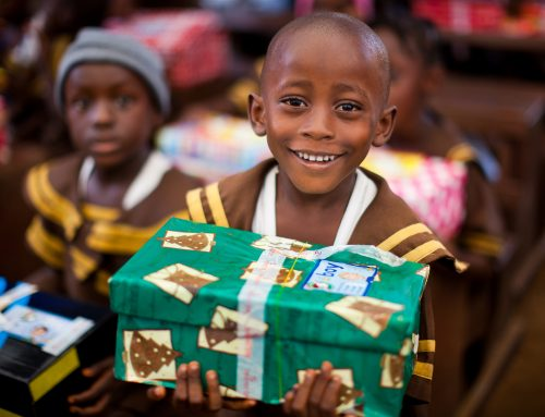 Operation Christmas Child Blessing