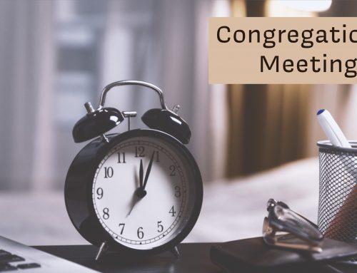 Quarterly Congregational Meeting