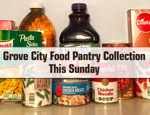 Grove City Food Pantry Collection This Sunday