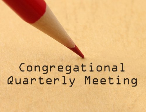 Congregational Quarterly Meeting, July 25-26, 2020