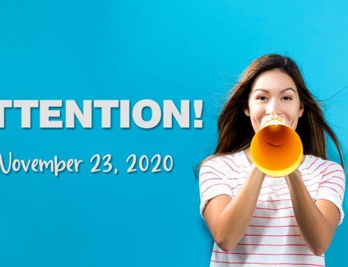 Church Announcements, November 23, 2020