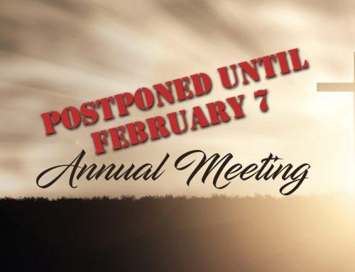 Annual Meeting – January 2021